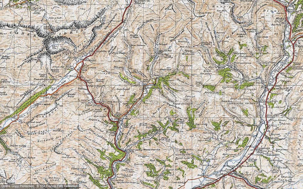 Old Map of Aberllefenni, 1947 in 1947