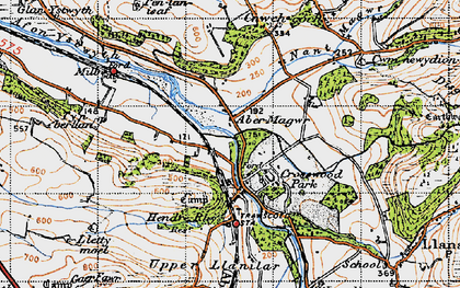 Old map of Abermagwr in 1947