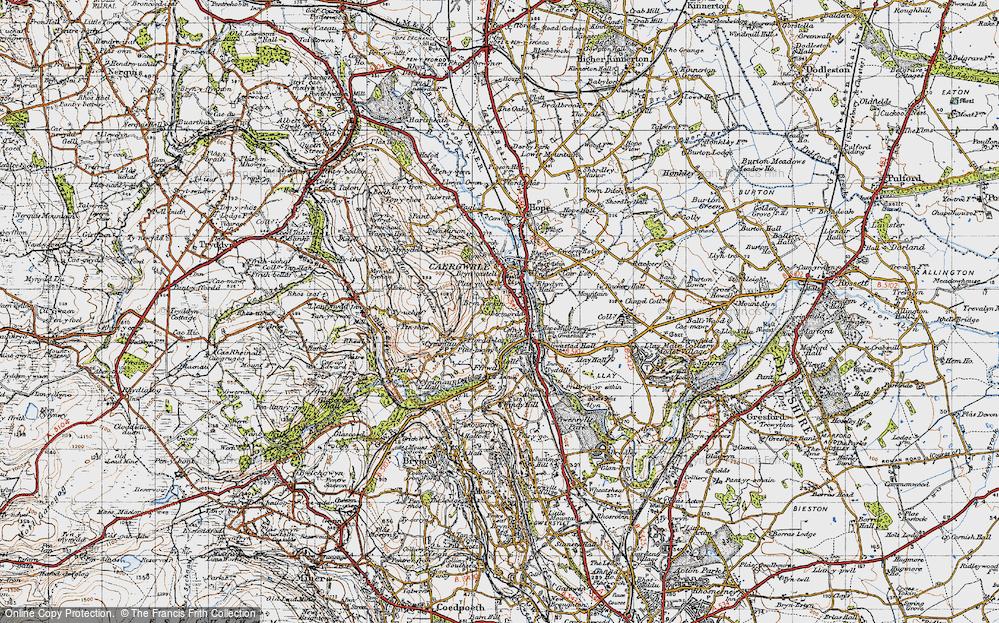 Old Map of Abermorddu, 1947 in 1947