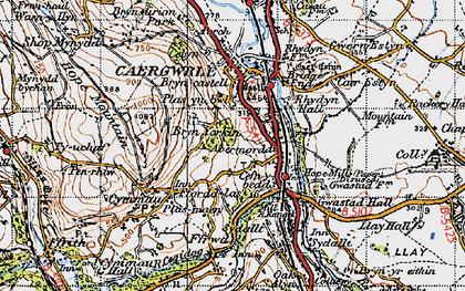 Old map of Abermorddu in 1947