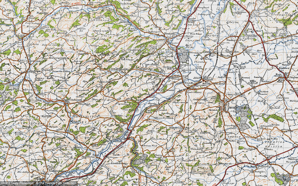 Old Map of Abernant, 1947 in 1947