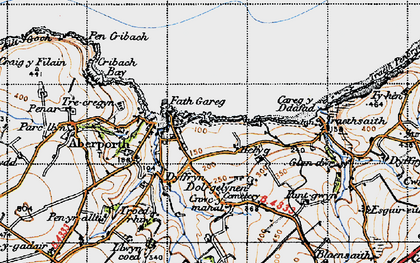 Old map of Aberporth in 1947