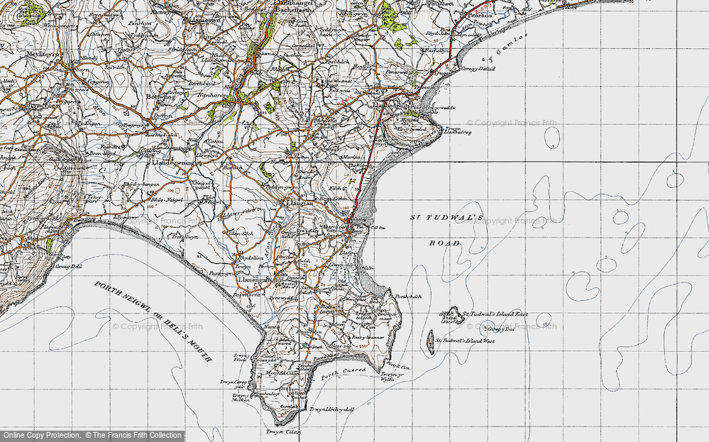Old Map of Abersoch, 1947 in 1947