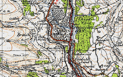 Old map of Abersychan in 1947