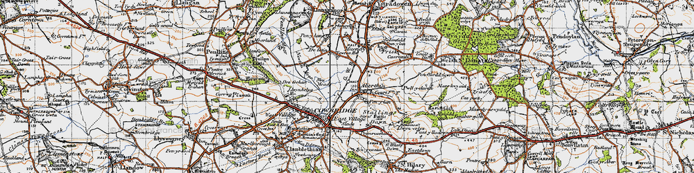 Old map of Aberthin in 1947