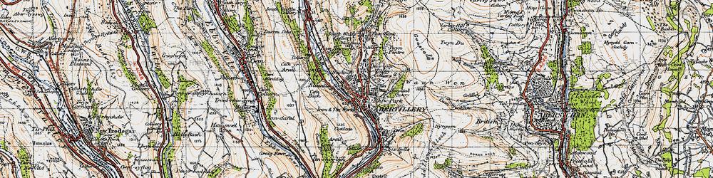 Old map of Abertillery/Abertyleri in 1947