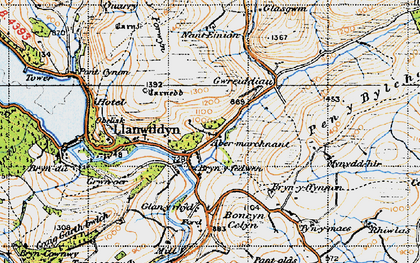 Old map of Abertridwr in 1947