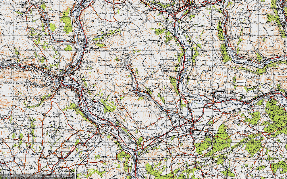 Old Map of Abertridwr, 1947 in 1947