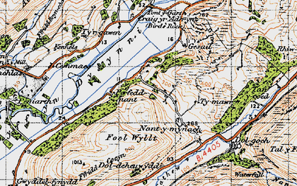 Old map of Abertrinant in 1947