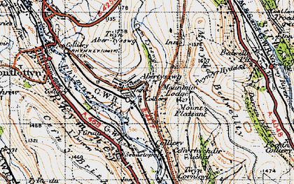 Old map of Abertysswg in 1947