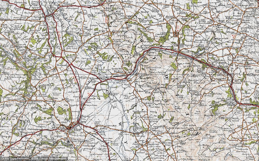 Old Map of Aberwheeler, 1947 in 1947