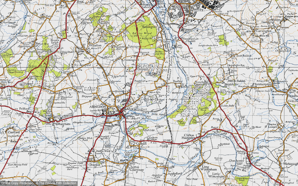 Old Map of Abingdon-on-Thames, 1947 in 1947