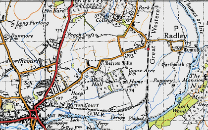Old map of Wick Hall in 1947
