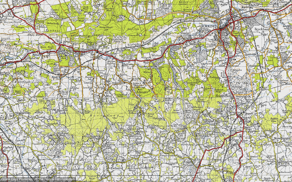 Old Map of Abinger Common, 1940 in 1940