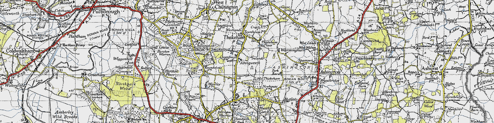 Old map of Abingworth in 1940