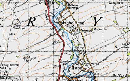 Old map of Ablington in 1940