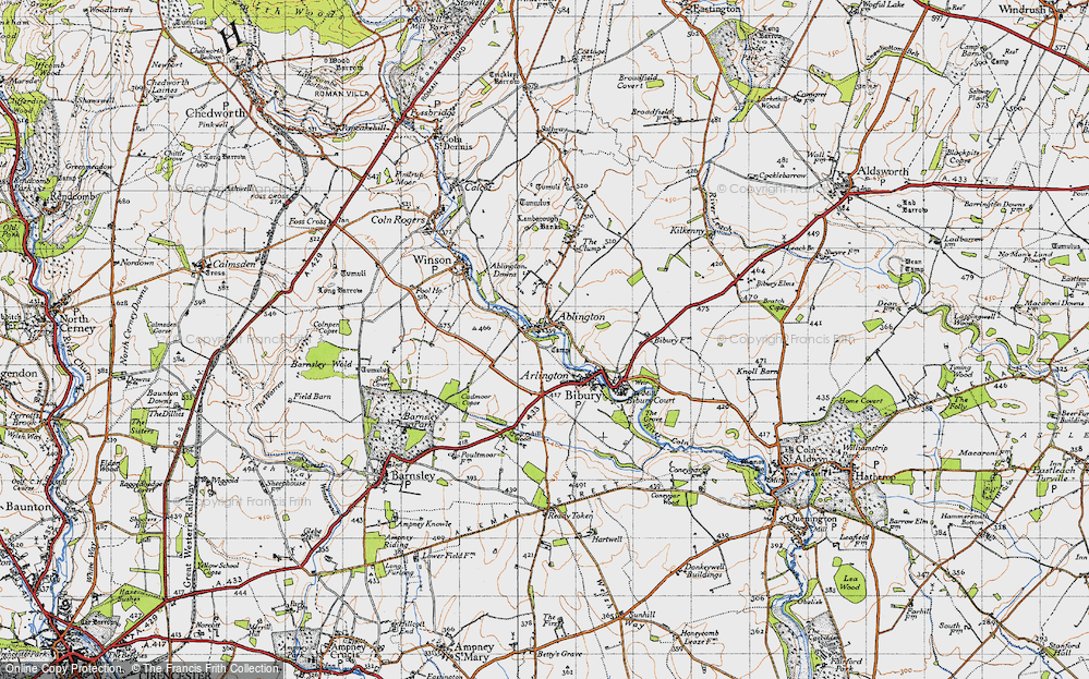 Old Map of Ablington, 1946 in 1946