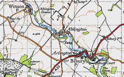 Old map of Ablington in 1946