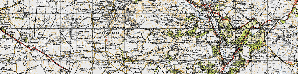 Old map of Abney in 1947