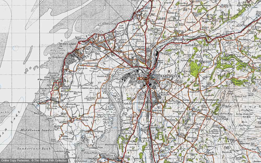 Old Map of Abraham Heights, 1947 in 1947