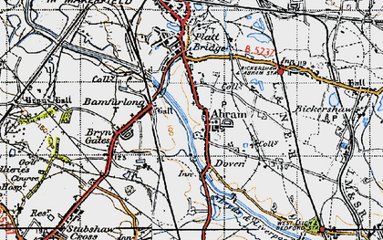 Old map of Abram in 1947