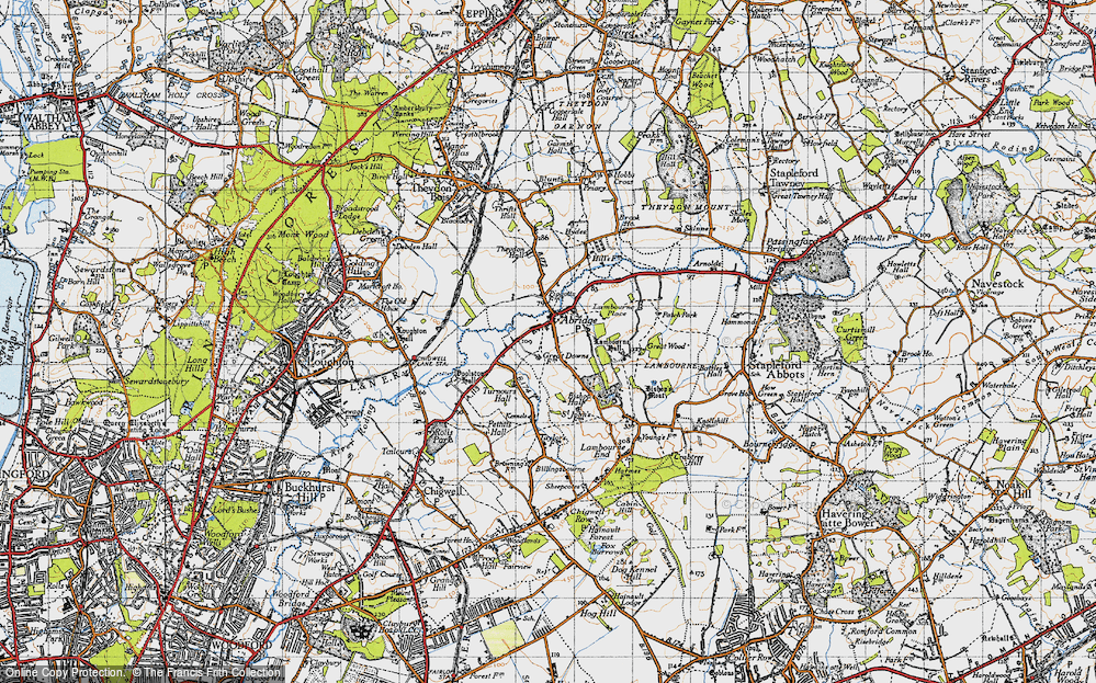 Old Map of Abridge, 1946 in 1946