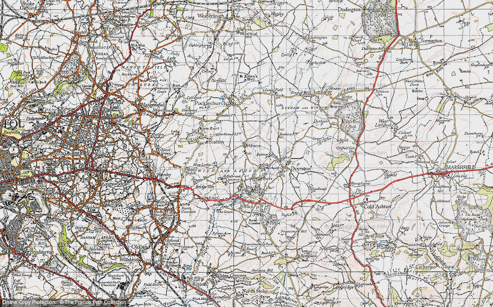 Old Map of Abson, 1946 in 1946
