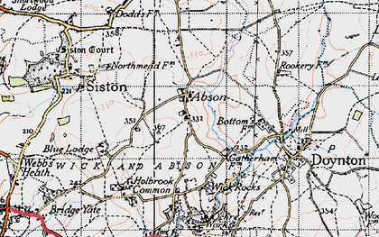 Old map of Abson in 1946