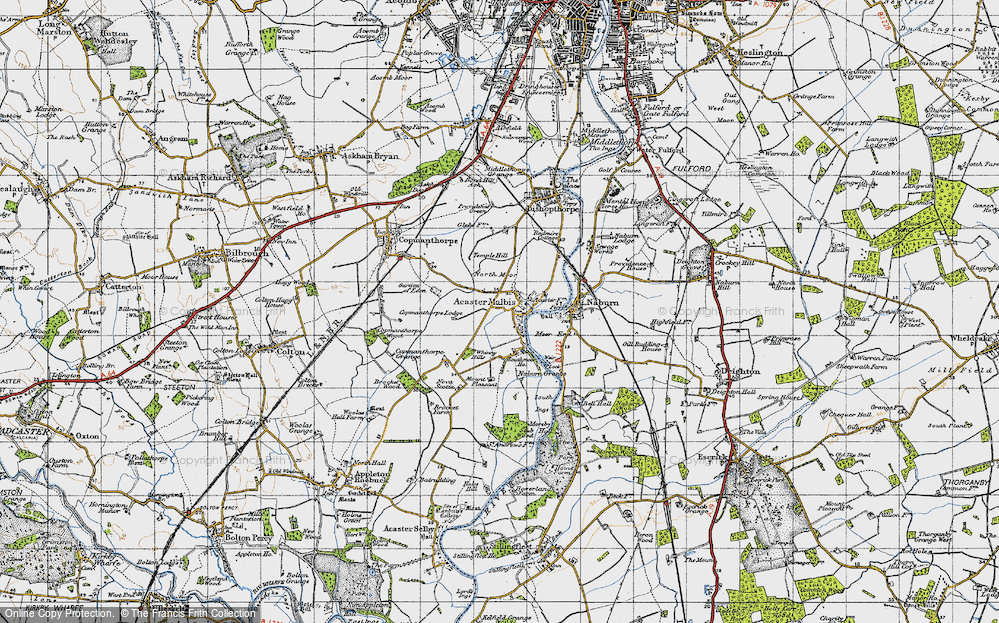 Old Map of Acaster Malbis, 1947 in 1947