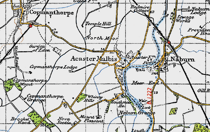 Old map of Acaster Malbis in 1947