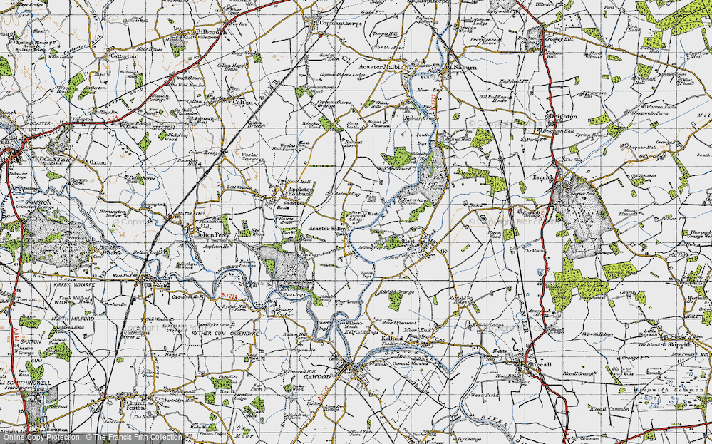Old Map of Acaster Selby, 1947 in 1947