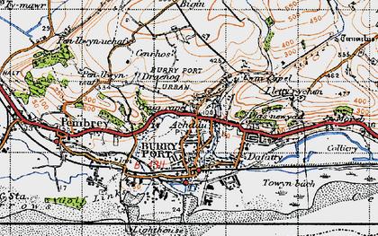Old map of Achddu in 1946