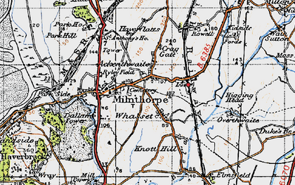 Old map of Ackenthwaite in 1947
