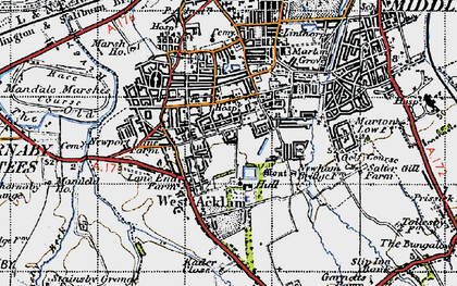 Old map of Acklam in 1947