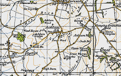 Old map of Back Warren Plantn in 1947