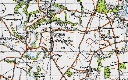 Old map of Ackleton in 1946