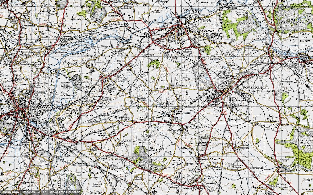 Old Map of Ackton, 1947 in 1947