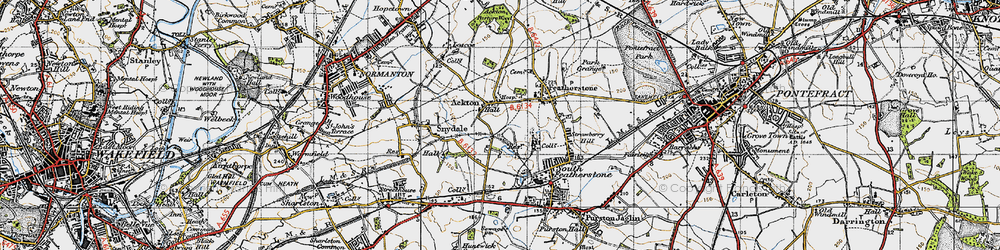Old map of Ackton in 1947
