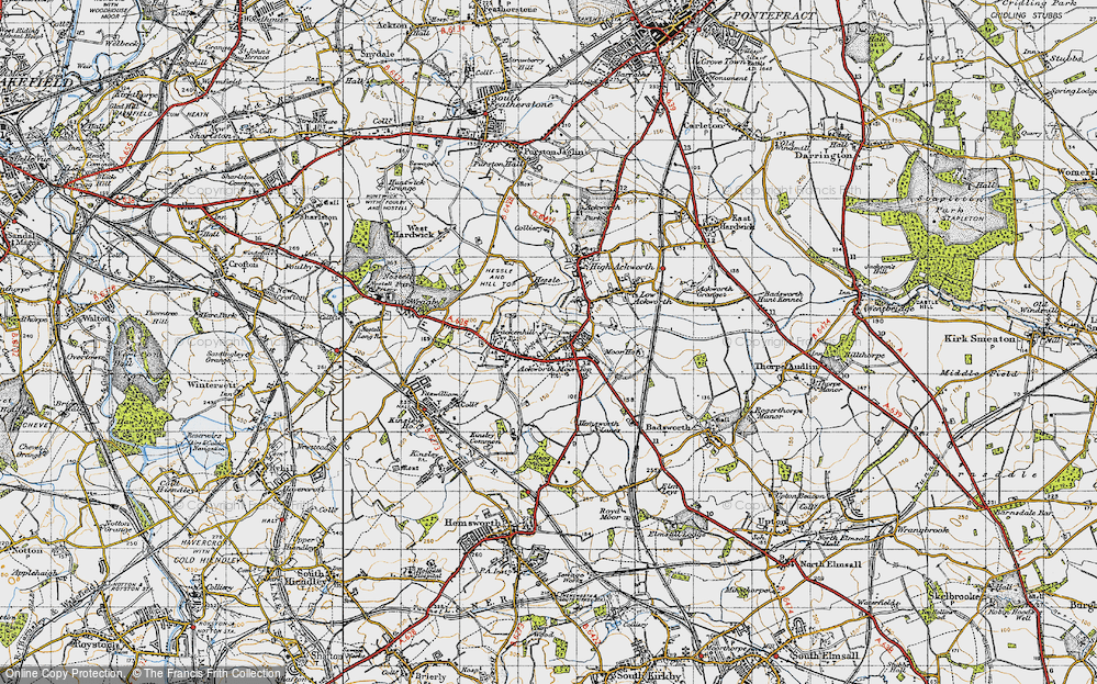 Old Map of Ackworth Moor Top, 1947 in 1947