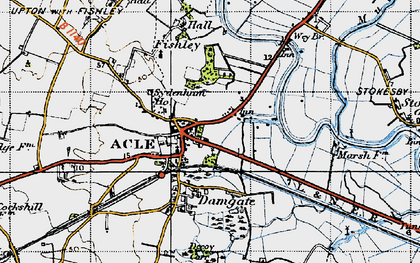 Old map of Acle in 1945