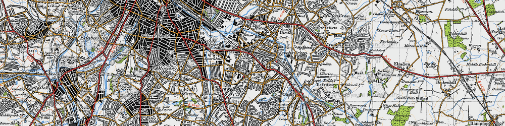 Old map of Acock's Green in 1947