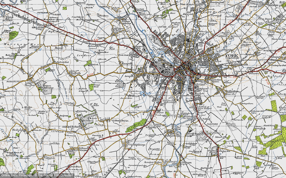 Old Map of Acomb, 1947 in 1947