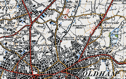 Old map of Acre in 1947
