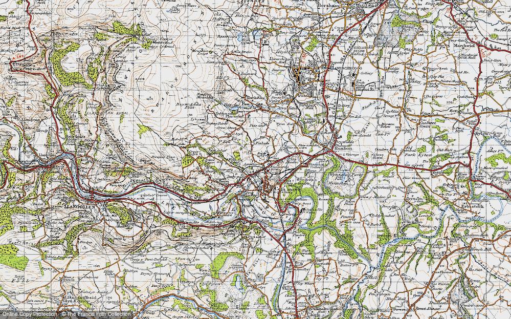 Old Map of Acrefair, 1947 in 1947