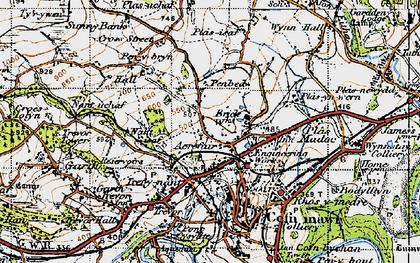 Old map of Acrefair in 1947