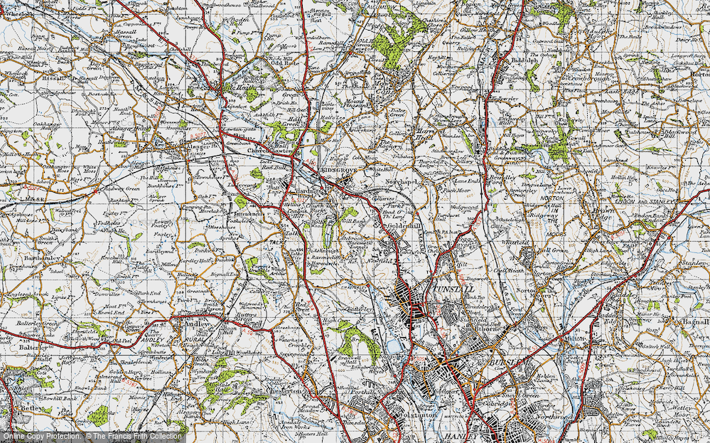 Old Map of Acres Nook, 1946 in 1946