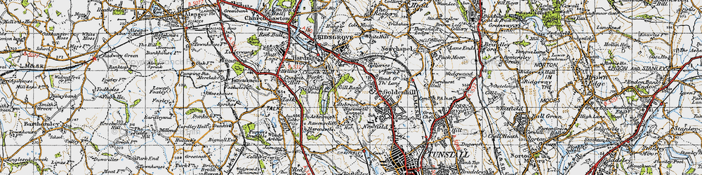 Old map of Acres Nook in 1946