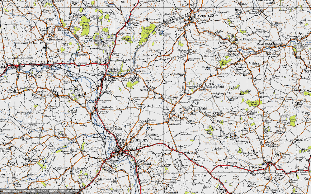 Old Map of Acton, 1946 in 1946