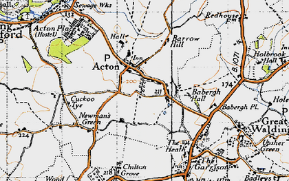 Old map of Acton in 1946