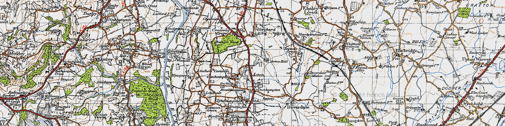 Old map of Acton in 1947
